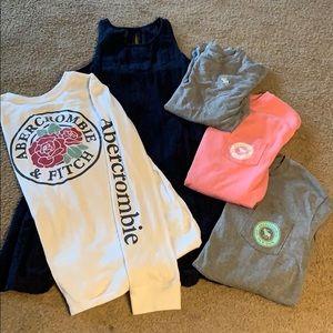 Abercrombie lot - 4 shirts one dress